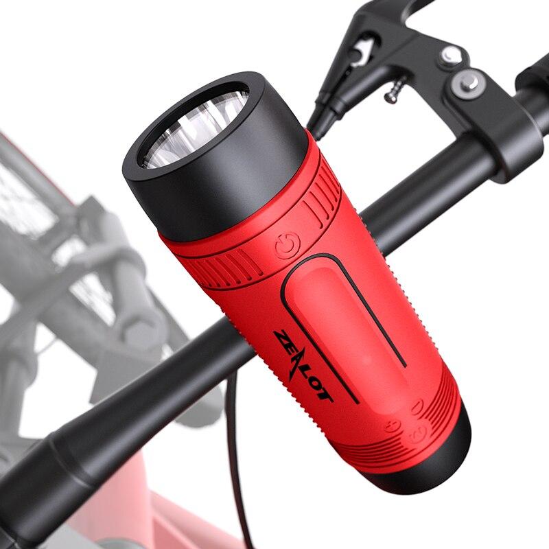 Zealot S1 سمّاعات بلوتوث المحمولة دراجة العمود راديو fm في الهواء الطلق سماعات لاسلكية صغيرة قوة البنك + مصباح يدوي + دراجة تصاعد