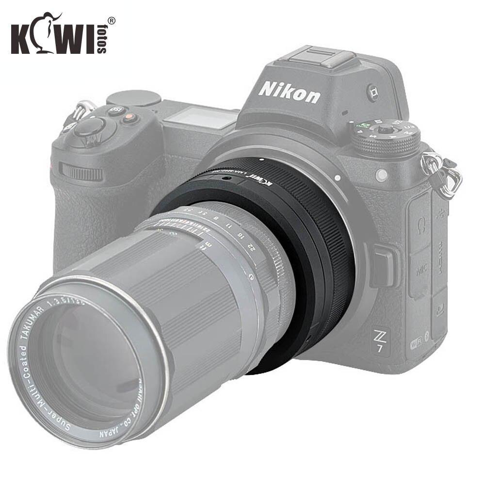 KIWIFOTOS LMA-M42_NZ 69x34,3mm lente Manual adaptador M42 montura lentes a Nikon Z montaje cuerpo enfoque infinito