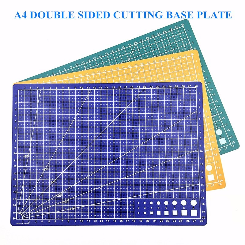 Carving Board Cutting Mat A4 Pad 3 Color Double-sided Cutting Pad