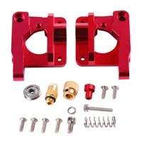 red extruder mk8 mk9 aluminum alloy block all metal bowden extruder kit right left hand 1 75mm filament cr 7 cr 10 for 3d printe
