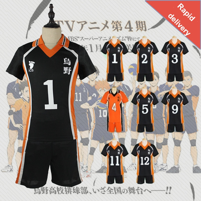 11 Styles Haikyuu Cosplay Costume Karasuno High School Volleyball Club Hinata Shyouyou Halloween Spo