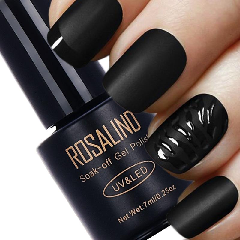 ROSALIND 7ML Matt Top Coat Nail Polish Lacquer Nail Gel Polish Vernis Semi Permanent Soak Off UV Gel Nail Polish Manicure Art недорого