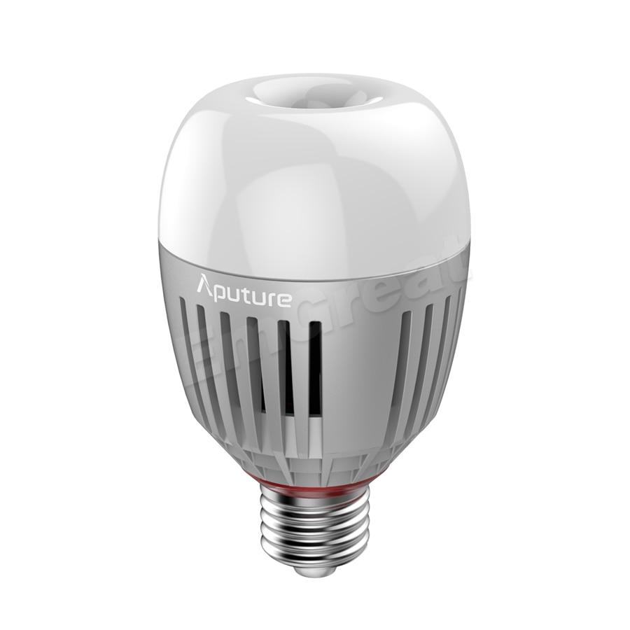Aputure Accent B7C 7W RGBWW LED Smart Bulb CRI 95+ TLCI 96+ 2000K-10000K Adjustable 0-100% Stepless Dimming App Control /Battery enlarge
