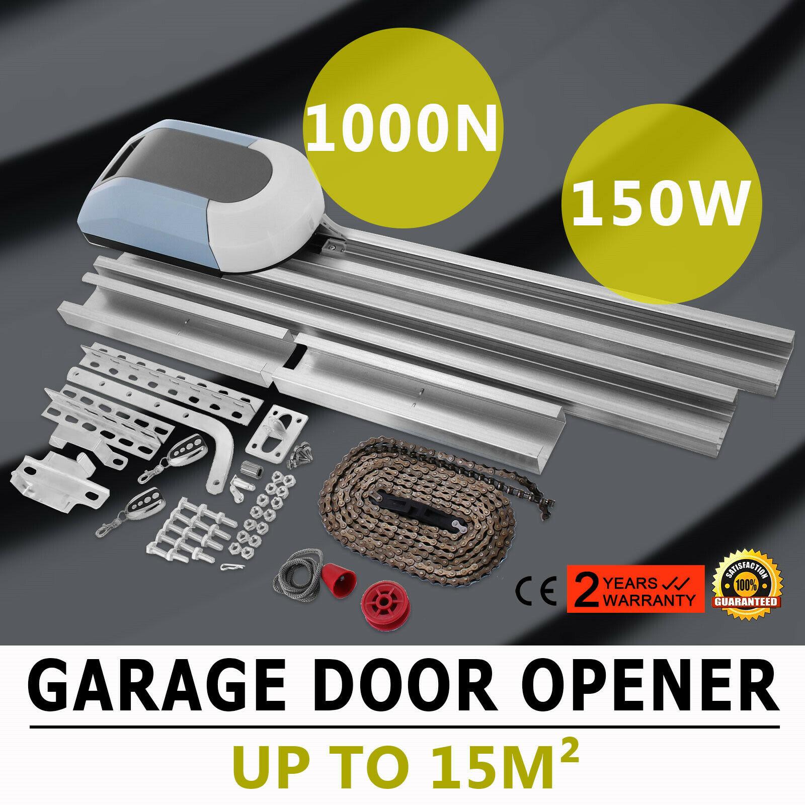 Automatic GARAGE DOOR OPENER Motor Electric Retractable Operator + Remotes 1000N