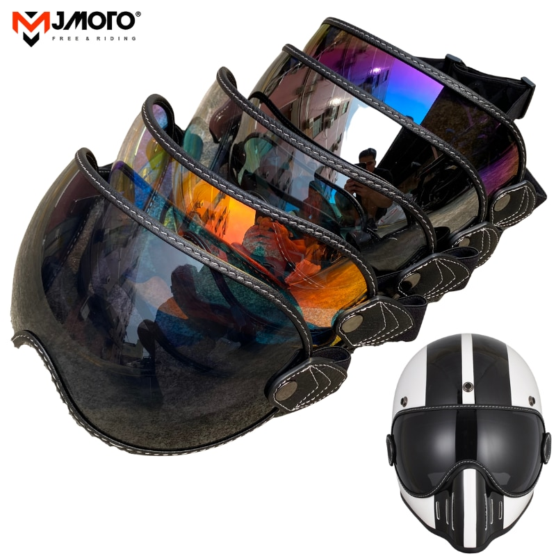 Аксессуары для защиты от солнца, мотоциклетные очки, шлем в стиле ретро, очки для мотокросса, противотуманные очки, солнцезащитный козырек