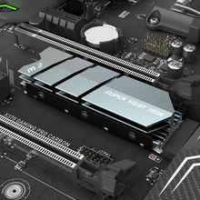 1 ensemble M.2 SSD NVMe NGFF dissipateur thermique en aluminium avec coussinet thermique pour M2 2280 WXTA