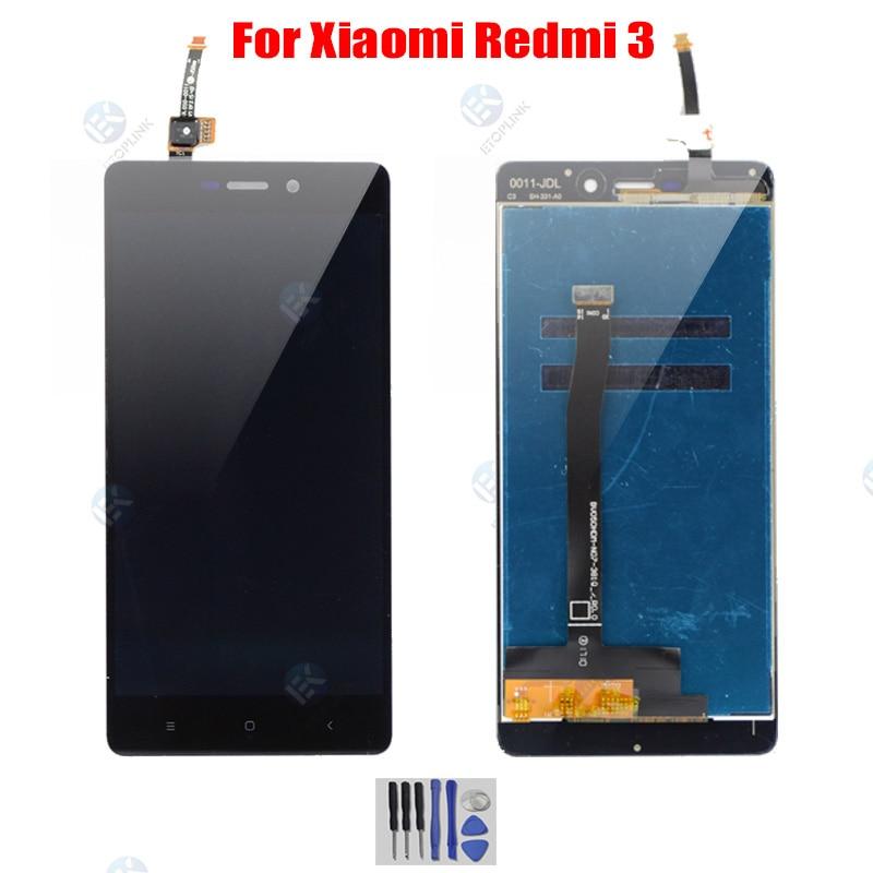Display para xiaomi redmi 3 display lcd assembléia tela para redmi 3 s lcd digiziter com quadro aseembly peças de reparo testado