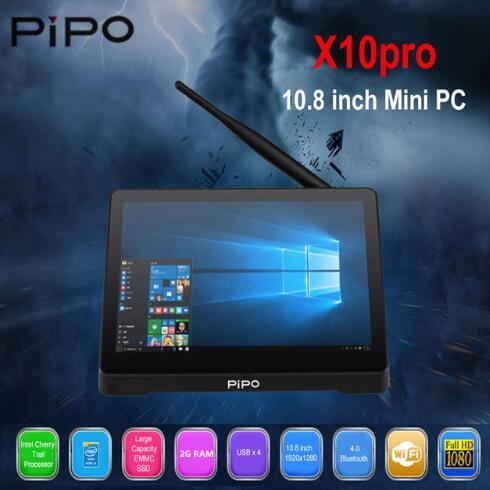 PIPO X10 Pro / X10 10.8 Inch Mini PC Win10 OS Tablet PC 4G RAM 64G ROM Z8350 TV Box BT RJ45 HDMI USB*4 Mini PC 10000mah Battery