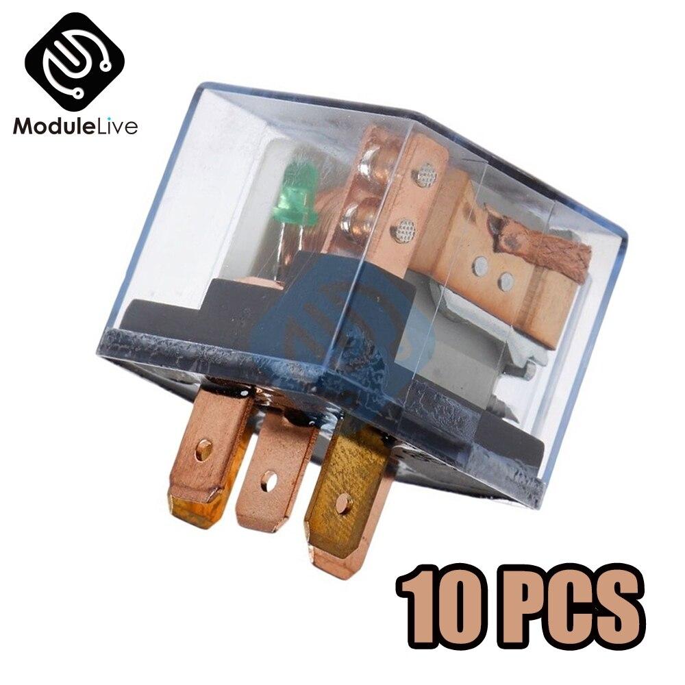 10 Uds relé automotriz impermeable 12V 100A 5Pin SPDT dispositivo de control de coche relés para coches 24V DC 48V alta capacidad 100A conmutación