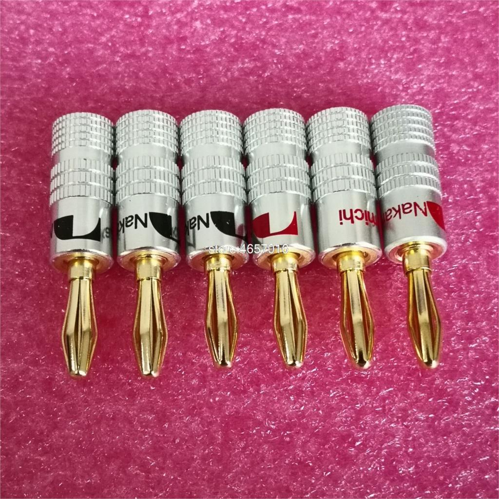 20 قطعة نوع جديد 4 مللي متر Nakamichi الموز التوصيل للفيديو 24 كيلو مطلية بالذهب المتكلم النحاس محول موصل الصوت نوعية جيدة