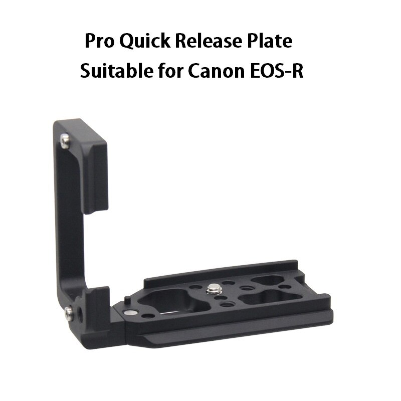 Soporte Vertical L Placa de liberación rápida para Canon EOS R EOSR Cámara estirable QR placa Arca-Swiss RRS R placa lateral de montaje