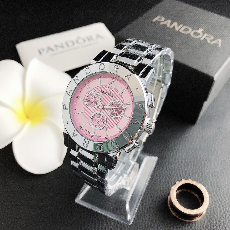 Reloj de pulsera de cuarzo de marca de lujo 2020, reloj de pulsera de plata para mujer, reloj de acero inoxidable, reloj Casual de 37 pulgadas