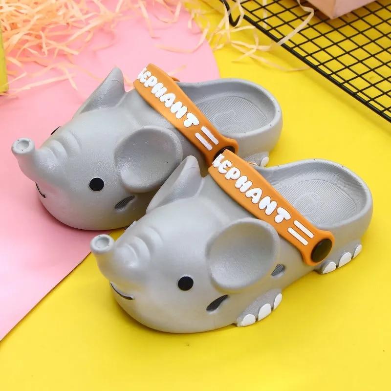جميل الفيل النعال طفل قباقيب الصيف أحذية الشاطئ للأطفال بنين بنات الحيوان الصنادل حذاء للحديقة حذاء طفل Weightlight