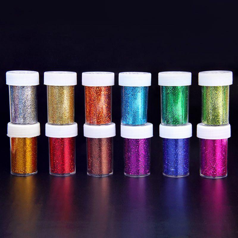 Kit de pigmento de resina brillante grande 12 colores Mica Flash brillos en polvo lentejuelas brillantes resina colorante tinte fabricación de joyas