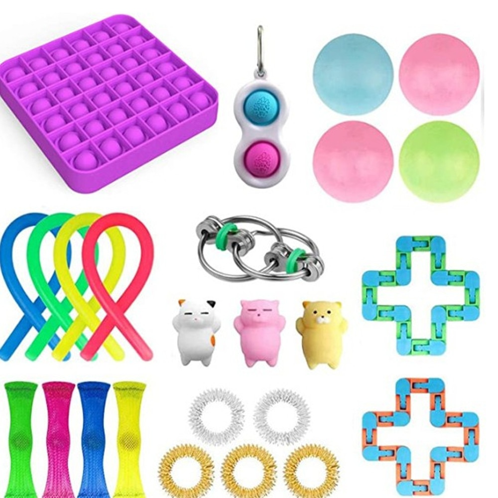 Hot Sale Fidget Toys Anti Stress Toy Set Relief Gift for Adults Girl Children Sensory Stress Relief Antistress Toys enlarge