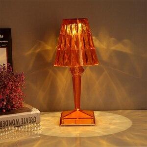 Nordic Italian USB Touch Table Lamp Kartell Battery Desk Lamp Sensor Bar Table Light Decor Restaurant Romantic Fixture Bed Lamp