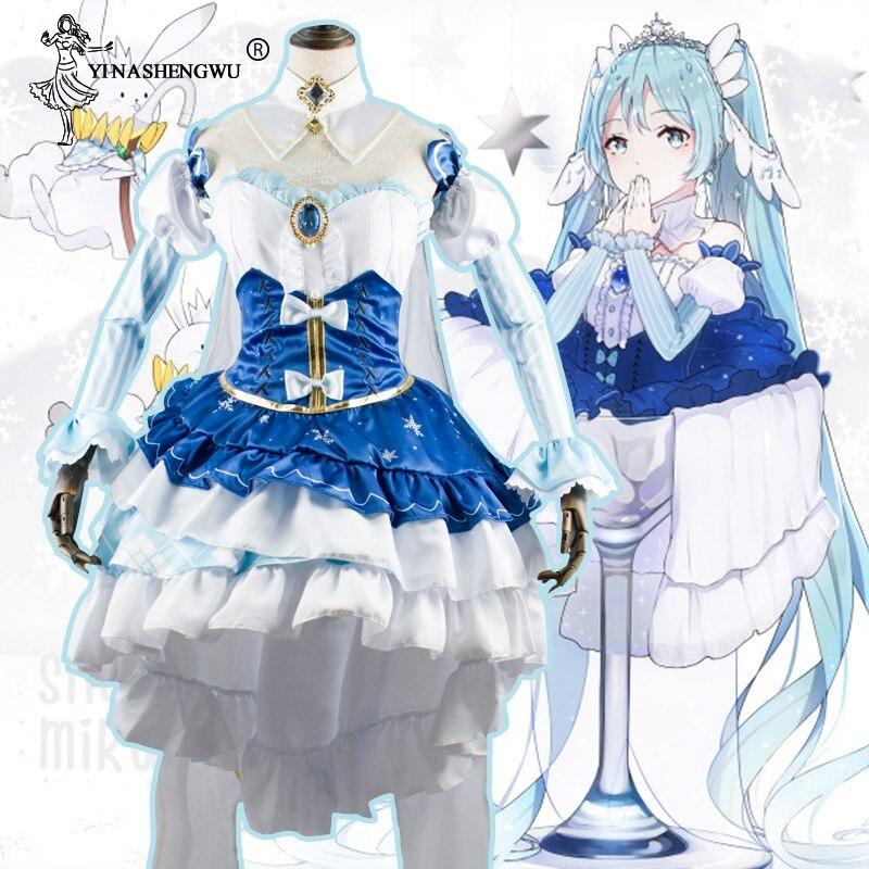 Fantasia vocaloid hatsune miku, cosplay de neve miku, conjunto completo de roupas femininas, carnaval, halloween S-XL