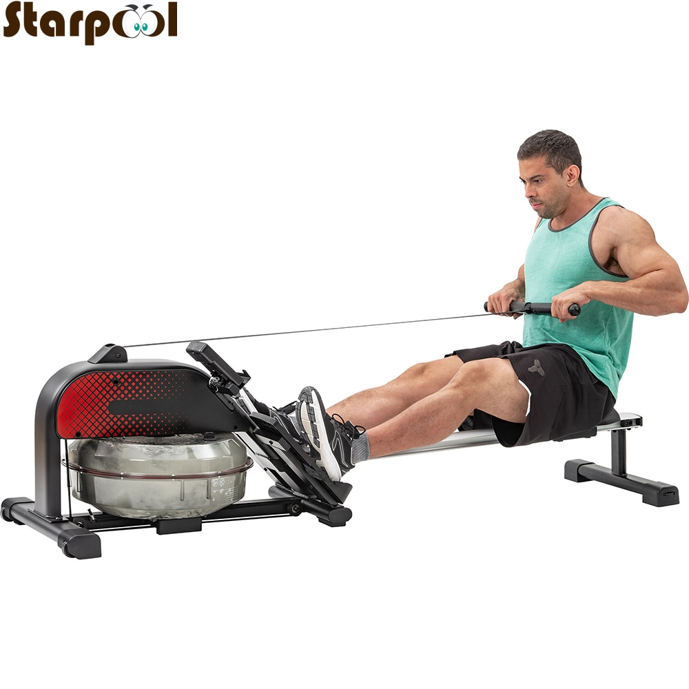 New metal water rower home gym equipment rowing machine Water Resistance Row Machine Abdominal Pectoral Arm Fitness Training