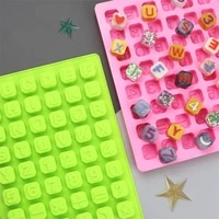 alphabet silicone molds for chocolate candy letter shape handmade soap making cake decoration mould ice cube baking tools