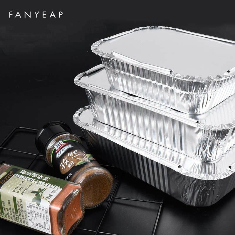 20 шт. капельная сковорода для барбекю, антипригарная алюминиевая фольга в коробке, термостойкий инструмент для барбекю, кемпинга, барбекю