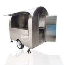 Chariot mobile de nourriture dacier inoxydable à vendre chariots de vente de van de casse-croûte de nourriture de camion de nourriture mobile de rue