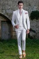 handsome one button groomsmen peak lapel groom tuxedos men suits weddingpromdinner best blazerjacketpantsvesttie 213
