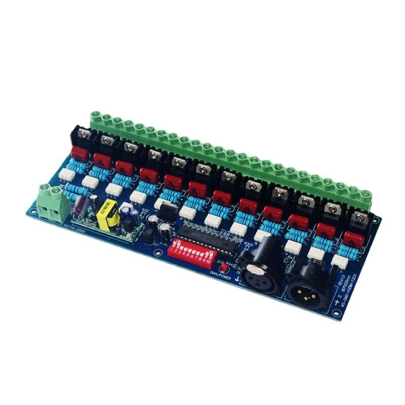 5A/Ch DMX Dimmer for Incandescent Lamp Lighting Ac110v-220v High Voltage 50hz 12 Channel Dimmer 12ch DMX512 Decoder