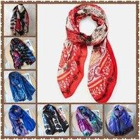 spanish desigual ladies fashion popular logo scarf shawl printed flower character long towel silk thickening shading and warm 12