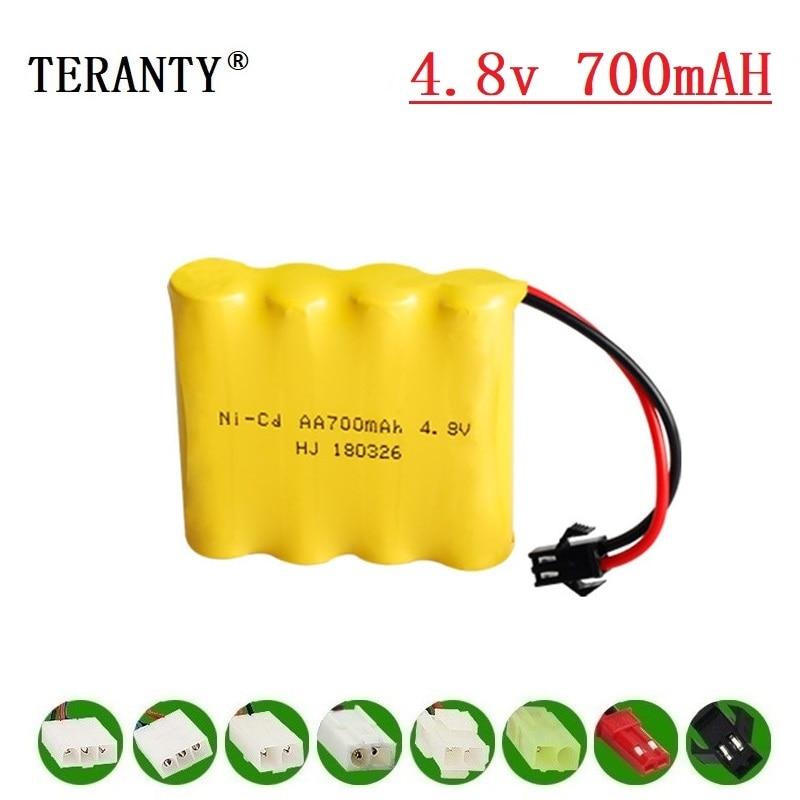 (M Modell) 4,8 v Ni-cd Batterie Für Rc spielzeug Autos Tanks Roboter Boote Pistolen 700mah 4,8 v Akku 4 * AA Batterie Pack 1Pcs