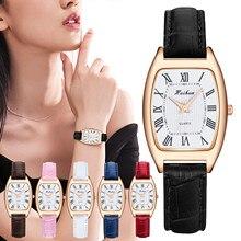 VANSVAR Brand Quartz Watch Roman Numerals 2021 New Fashion Minimal Leather Strap Watch for Women Cas