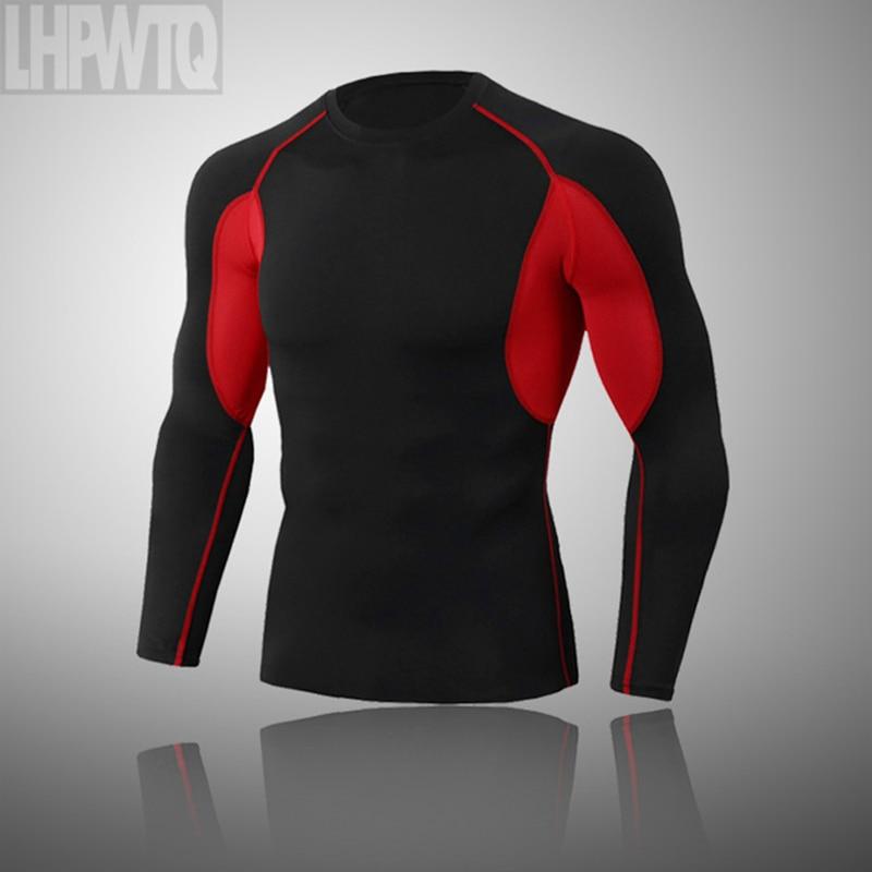 2021 Spartan Men Tight T-Shirt Compression Stretch Sport T-Shirt Lycra Tight Running Short Sleeve T-Shirts Men's Sportswear