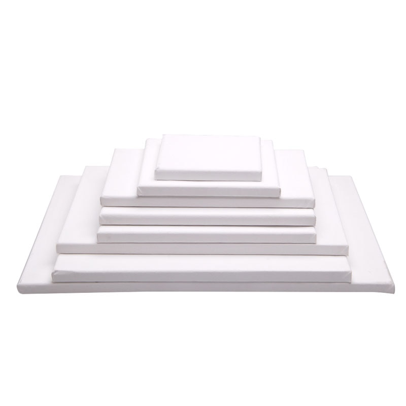 2021 New White Blank Square Artist Canvas Wooden Board Frame For Primed Oil Acrylic Paint enlarge