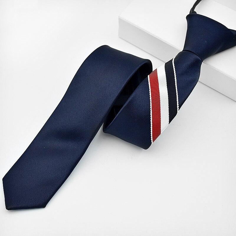 New Design Gentle Men Tie 5cm Striped Classic Business Neck Tie For Men Suit For Wedding Party Necktie Factory Sale Zipper