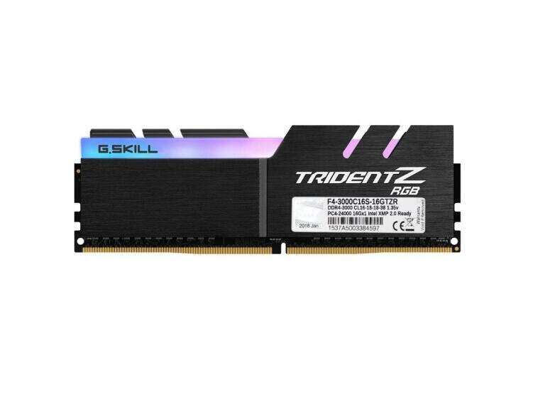 (G.SKILL) Trident Z RGB Series DDR4 3000 C16  Desktop memory RGB light bar F4-3000C16S-16GTZR