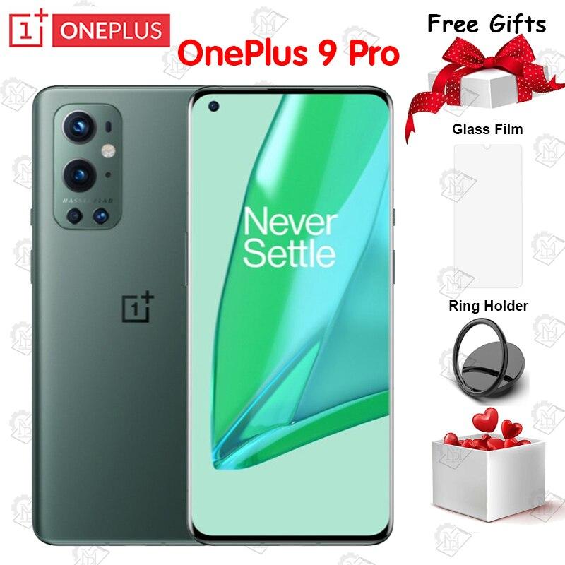 Перейти на Алиэкспресс и купить Новый оригинальный Oneplus 9 Pro 5G мобильный телефон 6,7 дюймов LTPO активно-матричные осид, 120 Гц 8G + 256G Snapdragon 888 Octa Core IP68 NFC Смартфон