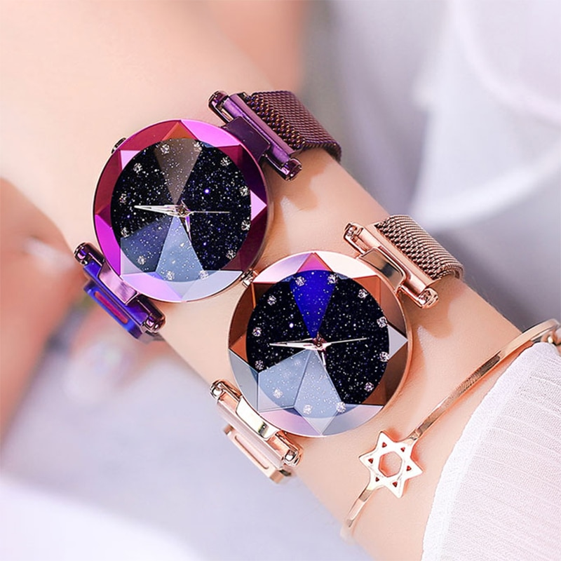 2020 Luxury Women Watches Starry Sky Fashion Diamond Ladies Magnet Watch For Women's Quartz Wristwatch Female Clock reloj mujer hannah martin wristwatch women watches luxury brand quartz steel strap female watch diamond ladies watch clock women reloj mujer