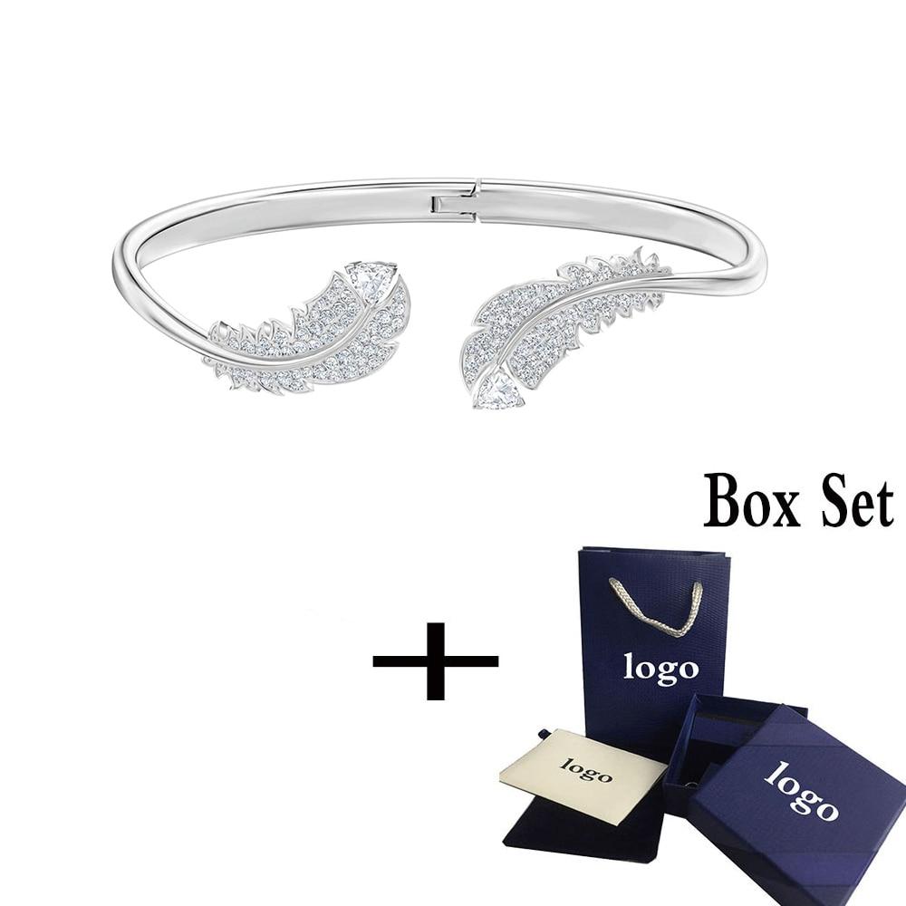 Mina urso swa 2019 agradável série high end temperamento dobradiça fivela aberto pulseira 5482915 feminino enviar presente namorada preferido