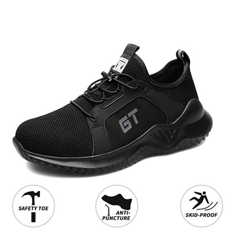 أحذية واقية للعمل للرجال ، أحذية رياضية شبكية مسامية ، أحذية عمل للحماية من ثقب صناعي ، أصابع فولاذية ، أربعة مواسم