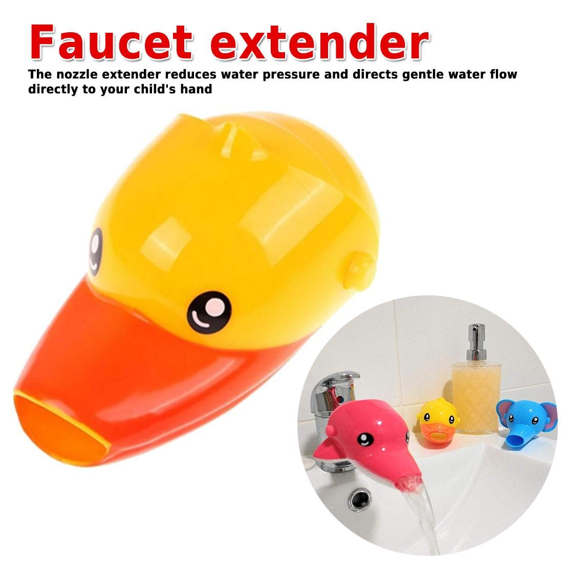 1 piezas de moda conveniente feliz diversión animales grifo extensor bebé bañeras niños lavado a mano lavabo en el cuarto de baño regalo