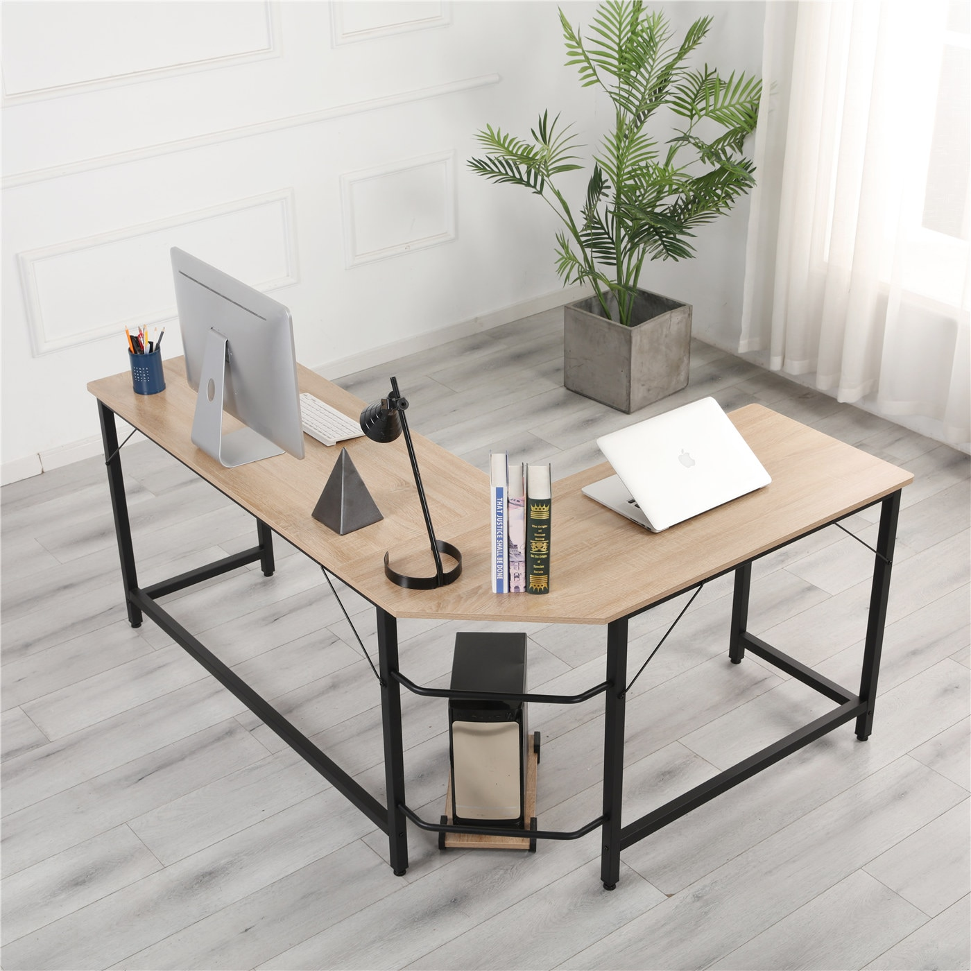 Фото - L-Shaped Desktop Computer Desk Study/Office Table Corner Table Easy to Assemble Can Be Used in home and office Wood Color[US-W] michael mandelbaum that used to be us