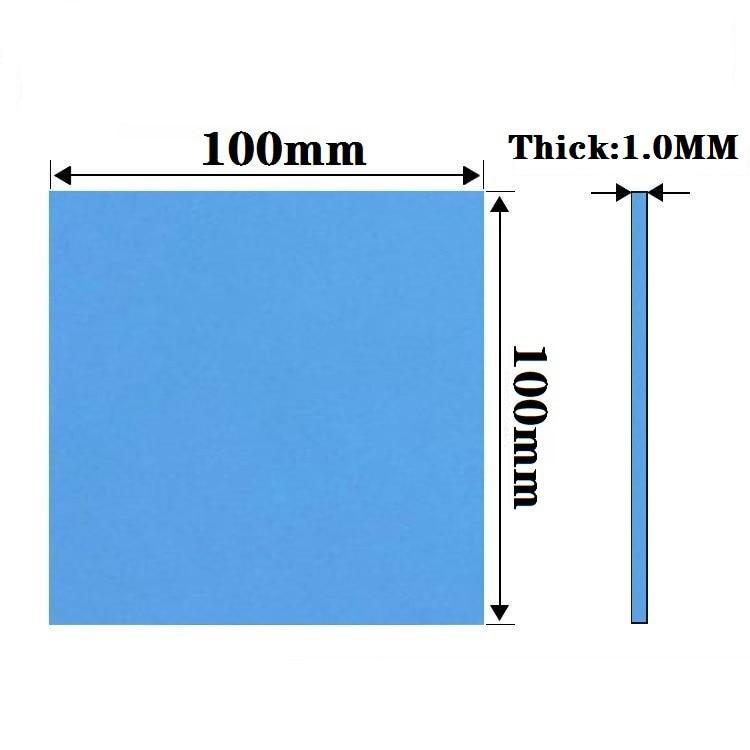 new gpu cpu heatsink cooling conductive silicone pad ic heat dissipation 100mm 100mm 1mm thermal pad high quality New GPU CPU Heatsink Cooling Conductive Silicone Pad 100mm*100mm*1mm Thermal Pad high quality