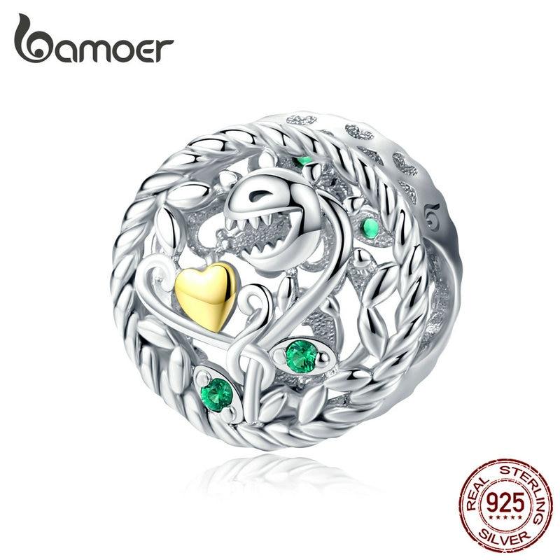 Bamoer plante cannibales perles rondes en métal breloques argent 925 Original pour Bracelet Zombie bricolage Chamrs bijoux accessoires BSC106