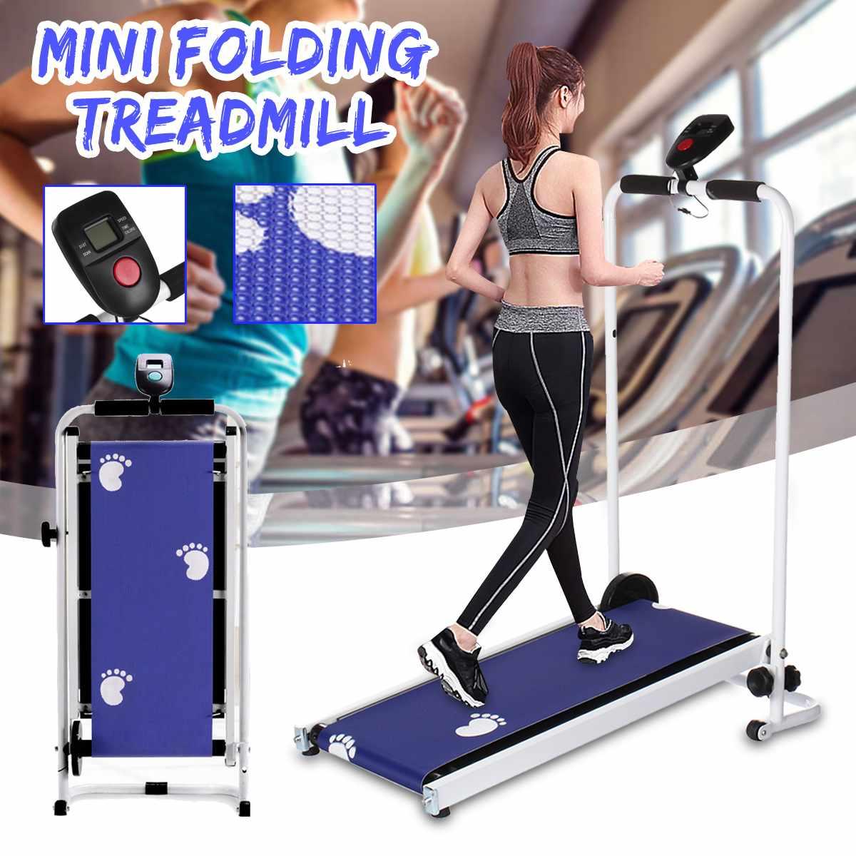 Foldable Treadmill LED Display Jog Space Walk Machine Aerobic Sport Fitness Equipment No Floor Space Easy To Move