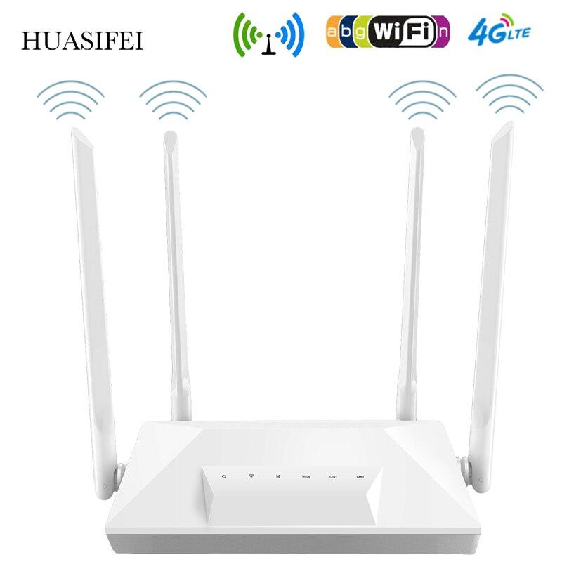 Разблокированная точка доступа HUASIFEI 300 Мбит/с, роутеры LTE CPE Mobile 4G, Wi-Fi роутер с Sim-картой с внешними антеннами WAN/LAN RJ45