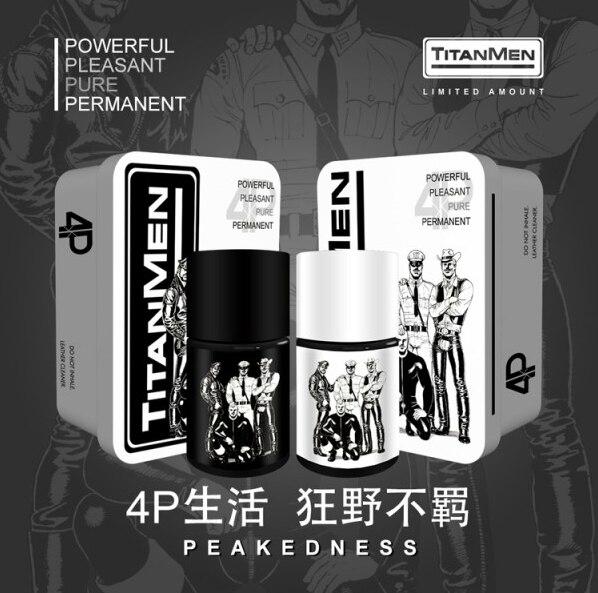 Nuevo diseño Edición Limitada 40ml hombres pulverizador, potenciador del sexo, TITANMEN 4P R.S Inhale, orgasmo de larga duración, Gay Poppers juguetes sexuales