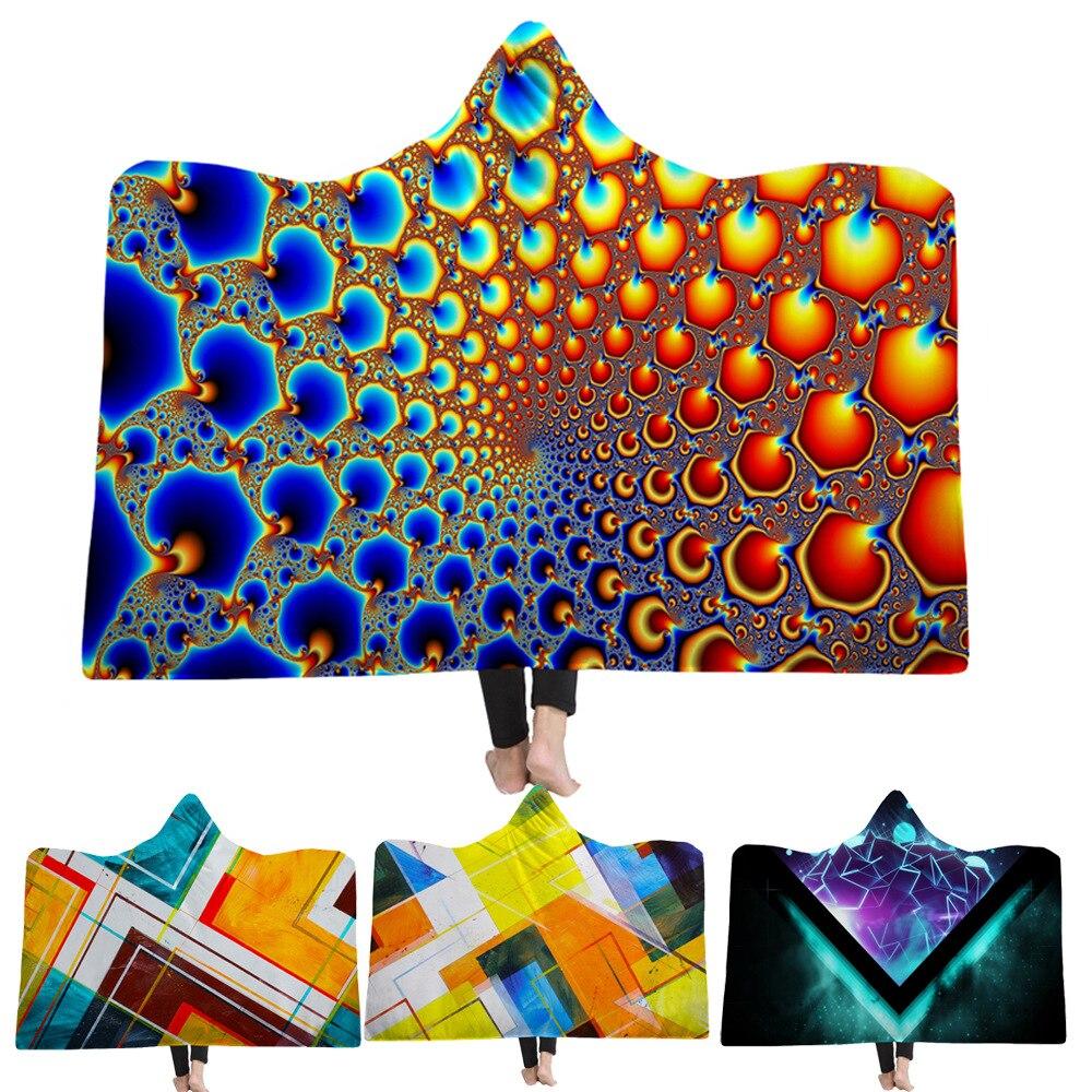هندسي نمط ماندالا رمي بطانية للأطفال 150x200 سنتيمتر الكبار مقنعين بطانية مزدوجة الطبقات النوم أريكة بطانية T533