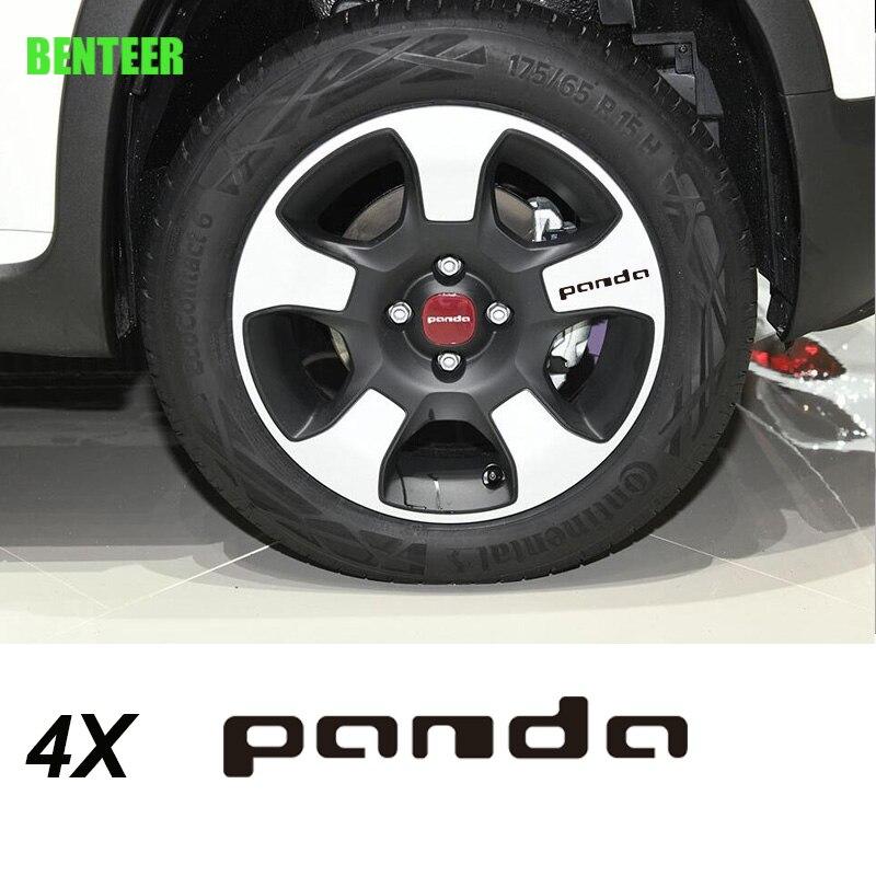 4 наклейки на автомобильные колеса для fiat panda