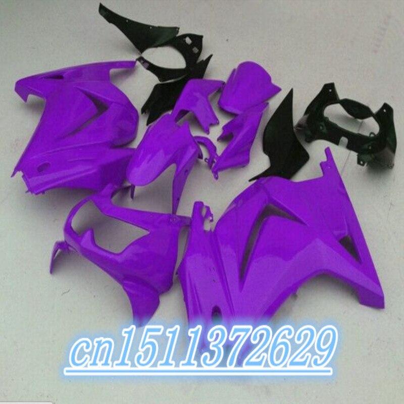 ABS púrpura para Kawasaki Ninja 250R 2008 - 2012 08 09 10...