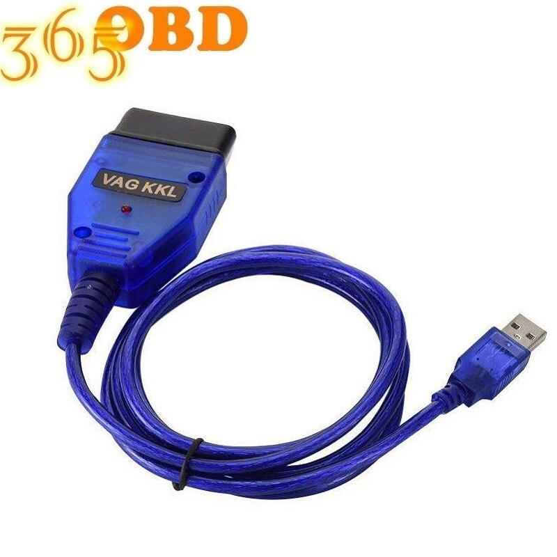 Для vag com kkl 409,1 USB Vag-Com Кабель интерфейса для VagCom 409 kkl OBD2 Диагностический кабель USB ForVAG KKL