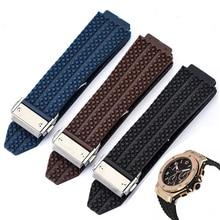 Correa de reloj para HUBLOT BIG BANG de silicona para hombre, 24 y 26mm, resistente al agua, accesorios de reloj, pulsera de goma